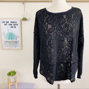 Free People Not Cold In This Top in Black Sz S